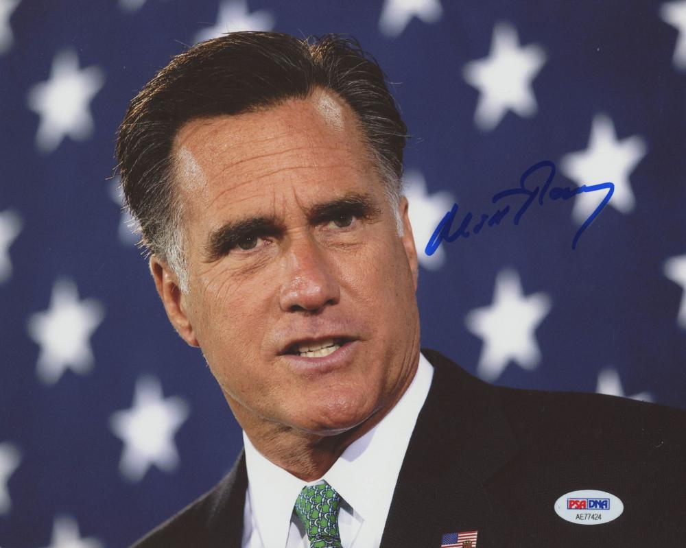 Mitt Romney Signed 8x10 Photo (PSA Hologram) at PristineAuction.com