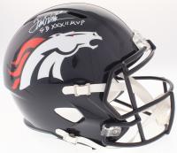 "Terrell Davis Signed Broncos Full-Size Speed Helmet Inscribed ""SB XXXII MVP"" (Radtke COA)"