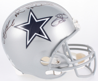 Emmitt Smith, Troy Aikman & Michael Irvin Signed Cowboys Full-Size Helmet (Radtke COA, Aikman & Smith Holograms) at PristineAuction.com