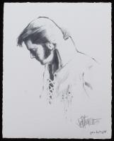 "Joe Petruccio Signed Elvis Presley ""Softly As I leave You"" Limited Edition 8x10 Prototype Giclee on Paper (Pristine Auction LOA & Joe Petruccio COA)"