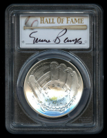 Ernie Banks Signed Silver 2014-P $1 One-Dollar Baseball Hall of Fame Silver Coin, Legends of Baseball (PCGS MS 69)