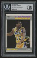 Magic Johnson Signed 1987-88 Fleer #56 Basketball Card (BGS Encapsulated)