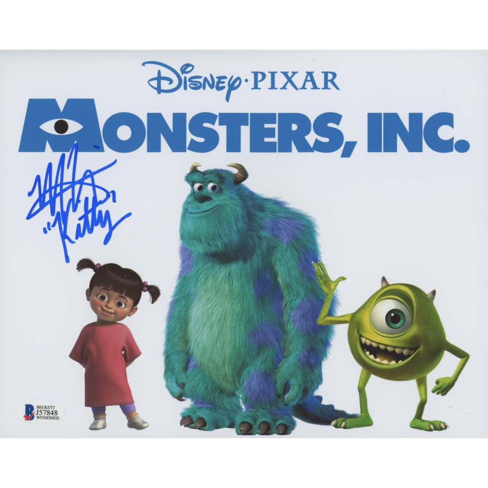 Mary Gibbs Signed Monsters Inc 8x10 Photo Inscribed Kitty Beckett Coa Pristine Auction