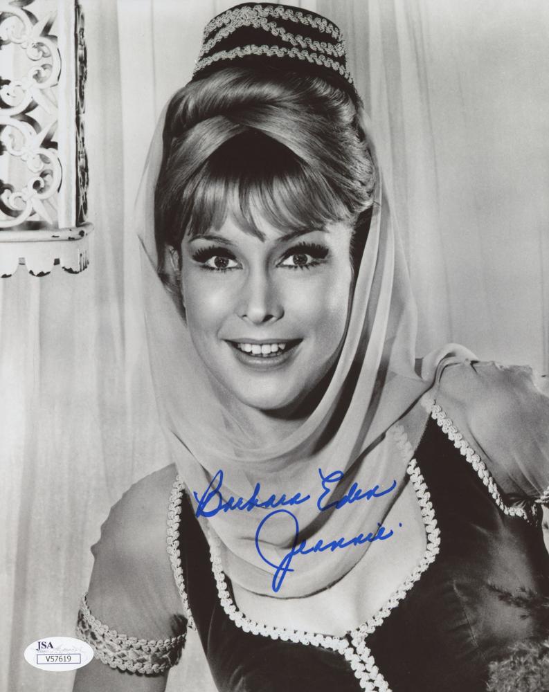 Barbara Eden Signed I Dream Of Jeannie Photo W/ Hologram Coa Television Autographs-original