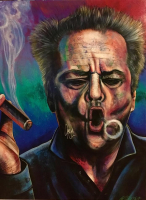 "Bill Lopa Signed ""Jack Nicholson"" 30x40 Limited Edition Hand-Embellished Giclee on Canvas"