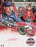 """Kurt Busch Signed NASCAR #41 """"Daytona 500 Win"""" 11x14 Photo (PA COA)"""