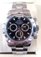 2015 Rolex Stainless Steel Black Face Daytona Series Watch