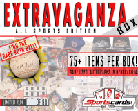 """EXTRAVAGANZA BOX"" All-Sports Edition! Game Used, Autographs & Memorabilia Mystery Box"