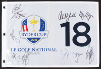 2018 Ryder Cup Golf Pin Flag Signed by (10) with Patrick Reed, Tony Finau, Webb Simpson, Rickie Fowler (JSA LOA)