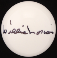 Willie Mosconi Signed Pool Cue Ball (Beckett COA)