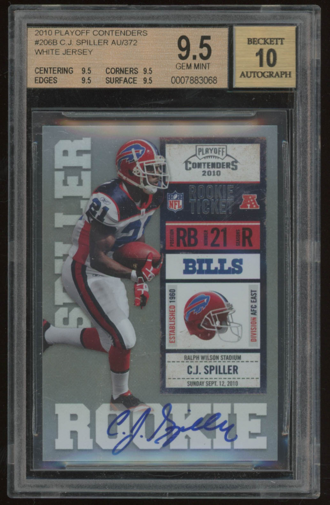 2dab37254 2010 Playoff Contenders  206B C.J. Spiller Autograph RC (BGS 9.5)