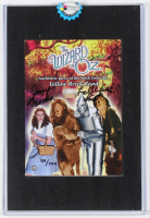 """Jerry Maren Signed LE """"The Wizard of Oz"""" 5x7 Prop Card with Authentic Piece of The Yellow Brick Road Inscribed """"Lollipop Kid"""" (Odyssey COA)"""