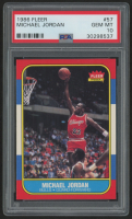 1986-87 Fleer #57 Michael Jordan RC (PSA 10)