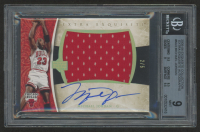 2005-06 Exquisite Collection Extra Exquisite Autographs #MJ3 Michael Jordan #2/5 (BGS 9)