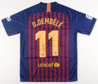 Ousmane Dembele Signed Barcelona Jersey (Beckett COA)