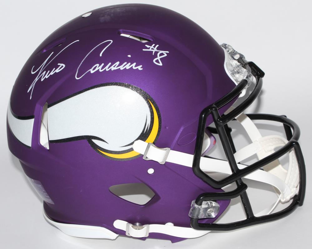 1748dfec5465cf Kirk Cousins Signed Vikings Full-Size Authentic On-Field Speed Helmet ( Cousins Hologram