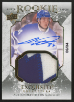 2016-17 Exquisite Collection #80 Auston Matthews Jersey Autograph RC #06/34