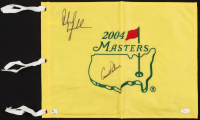 Arnold Palmer & Phil Mickelson Signed 2004 Masters Pin Flag (JSA LOA)