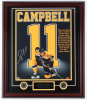 "Gregory Campbell Signed Bruins ""The Ultimate Warrior"" 23x27 Custom Framed Photo Display (Campbell Hologram)"