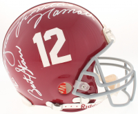 Bart Starr, Joe Namath, Ken Stabler Signed Alabama Crimson Tide Full-Size Authentic On-Field Helmet (JSA LOA)