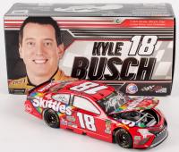 Kyle Busch Signed NASCAR #18 2018 Skittles Camry - 1:24 Premium Action Diecast Car (PA COA)