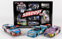 Kyle Busch Signed NASCAR Bristol Sweep (3) Car Set 2017 Toyota - 1:24 Premium Action Diecast Cars (PA COA)