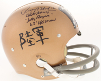 Roger Staubach Signed Navy Midshipmen Throwback Suspension Full-Size Helmet with (3) Inscriptions (TriStar Hologram) at PristineAuction.com