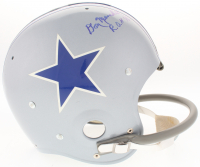 "Don Meredith Signed Cowboys Throwback Suspension Full-Size Helmet Inscribed ""R.O.H 76"" (TriStar Hologram)"