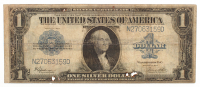 1923 $1 One Dollar Blue Seal Large Size Silver Certificate Bank Note
