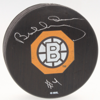 Bobby Orr Bruins Signed Official NHL Bruins 1966-67 Throwback Logo Puck - Rookie Year (Orr COA) at PristineAuction.com