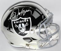 Bo Jackson Signed Raiders Custom Chrome Full-Size Speed Helmet (JSA COA)