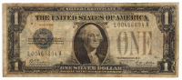 """1928-A $1 One Dollar """"Funny Back"""" Silver Certificate Bank Note"""