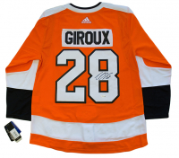 Claude Giroux Signed Flyers Adidas Authentic On-Ice Jersey with Fight Strap (Fanatics Hologram)