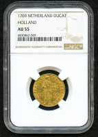 1769 Netherland - Holland Gold Ducat (NGC Graded AU 55)
