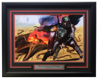 "Greg Horn Signed LE ""Boba Fett Sarlac Pit Escape"" 20x26 Custom Framed Lithograph Display (Sports Integrity COA) at PristineAuction.com"
