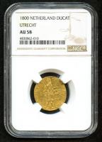 1800 Netherland - Utrecht Gold Ducat (NGC AU 58)