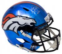 Peyton Manning Signed Denver Broncos Riddell Full-Size Chrome Speed Helmet (Fanatics Hologram)