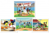Lot of (4) LE Charles McKimson Signed Warner Bros. MLB Animation Cels (Toon Art, Inc. COA)