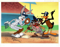 Lot of (4) LE Charles McKimson Signed Warner Bros. MLB Animation Cels (Toon Art, Inc. COA) at PristineAuction.com