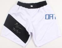 "Brian Ortega signed Boxing Trunks Inscribed ""T-City"" (PSA COA)"