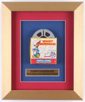"""Vintage 1950's Walter Lantz """"Woody Woodpecker"""" 10x12 Custom Framed Film Reel Display"""