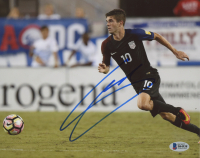 Christian Pulisic Signed Team USA 8x10 Photo (Beckett COA)