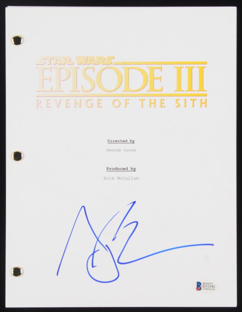 Joel Edgerton Signed Star Wars Revenge Of The Sith Full Movie Script Beckett Coa Pristine Auction