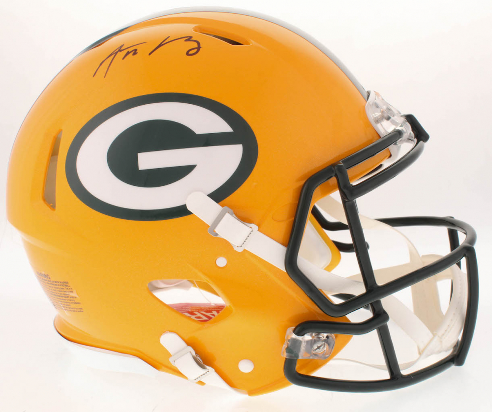 8225b76fb Aaron Rodgers Signed Packers Full-Size Authentic On-Field Speed Helmet  (Fanatics Hologram)