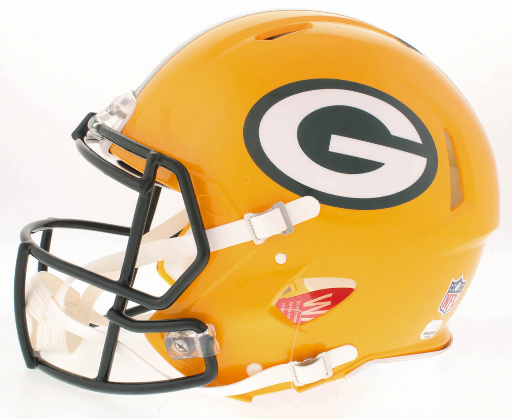 6026067c5 Aaron Rodgers Signed Packers Full-Size Authentic On-Field Speed Helmet  (Fanatics Hologram