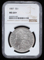 1887 Morgan Silver Dollar (NGC MS 64+)