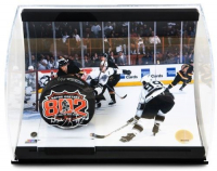 "Wayne Gretzky Signed Limited Edition ""802nd Goal"" 5x6x10 Hockey Puck Curve Display (UDA COA)"