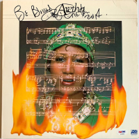 "Aretha Franklin Signed ""Almighty Fire"" Vinyl Record Album Inscribed ""Be Blessed"" (PSA COA)"