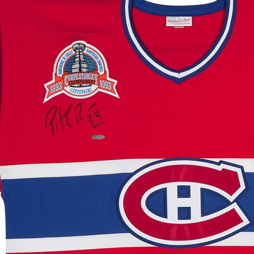 Patrick Roy Signed Canadiens Jersey with Stanley Cup Centennial Patch (UDA  COA) at PristineAuction 90e3713bd