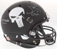 "Jon Bernthal & Ebon Moss-Bachrach Signed Custom Matte Black ""Punisher"" Full-Size Helmet with Original Skull Sketch Inscribed ""Micro"" (Radtke COA)"